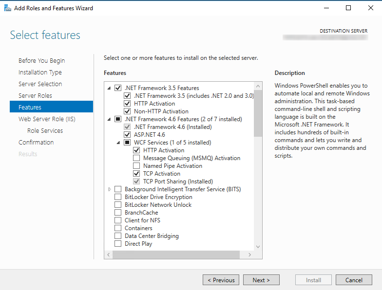 Configuring the Server in Windows Server 2016