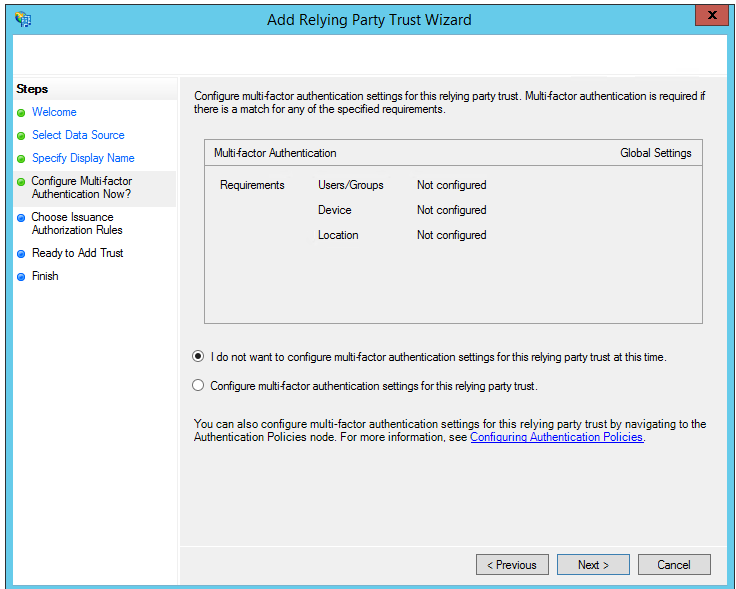 Importing Service Provider metadata into the Identity Provider